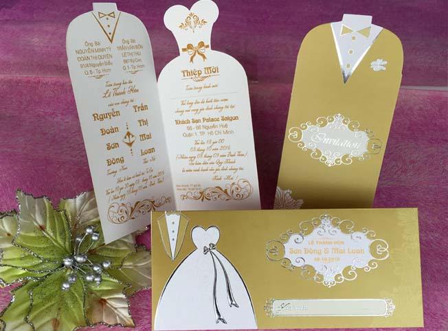 Thiệp cưới đẹp - giá rẻ - Thiệp cưới 1702 Vàng