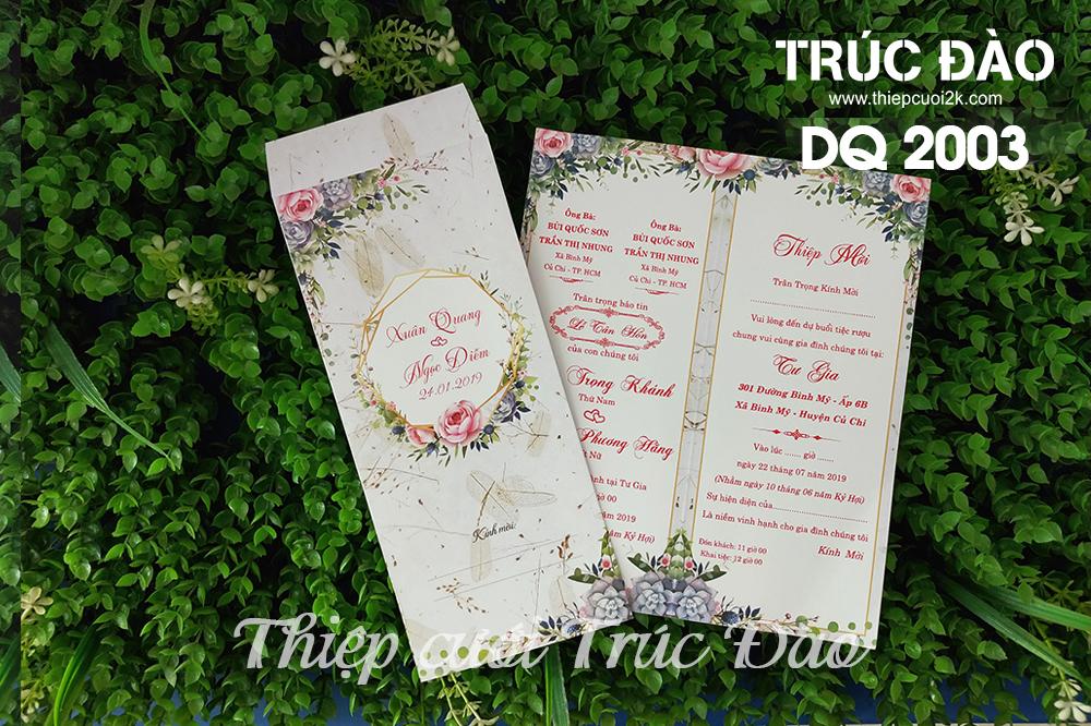 Mẫu thiệp cưới 2k giá rẻ Thiệp cưới 2003 Offset