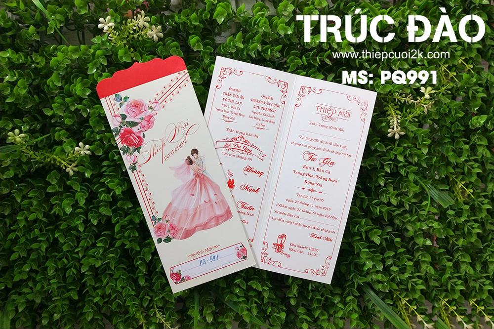 Thiệp cưới đẹp - giá rẻ - Thiệp cưới PQ 991