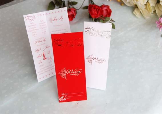 Thiệp cưới đẹp - giá rẻ - 1506 Đỏ nhung